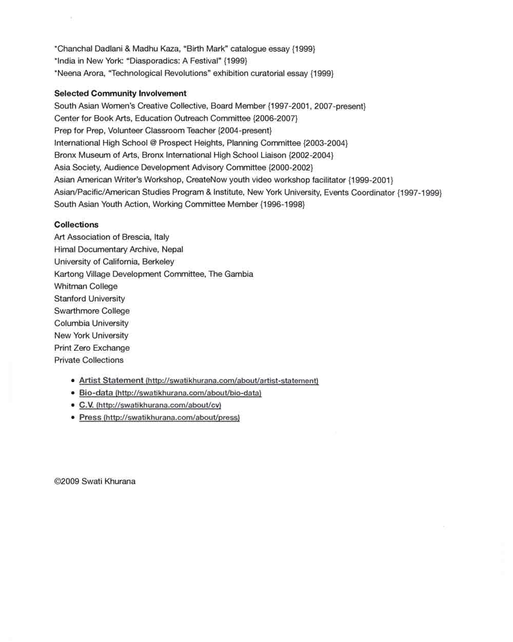 Swati Khurana's Resume, pg 6